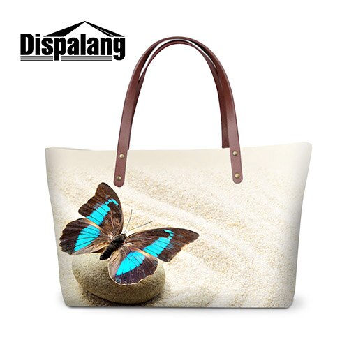 Brand Fashion Women Casual Handbags Butterfly Multi-function Waterproof Tote Bags With Zipper Bolas Feminine For Teenager Girls