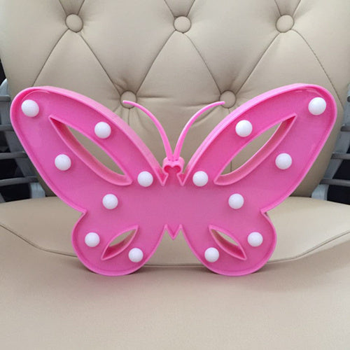 Cute Pink Butterfly Night Light Lamps For Home Bedside Nightlight for Kids Toy Christmas&Birthday Gifts Home Atmosphere Lights