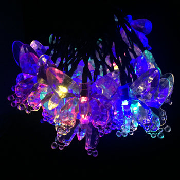 6M Solar Led Lights 30LEDs Colorful Butterfly Fairy String Lamps Christmas Holiday Party Garden Decoration Waterproof Lighting