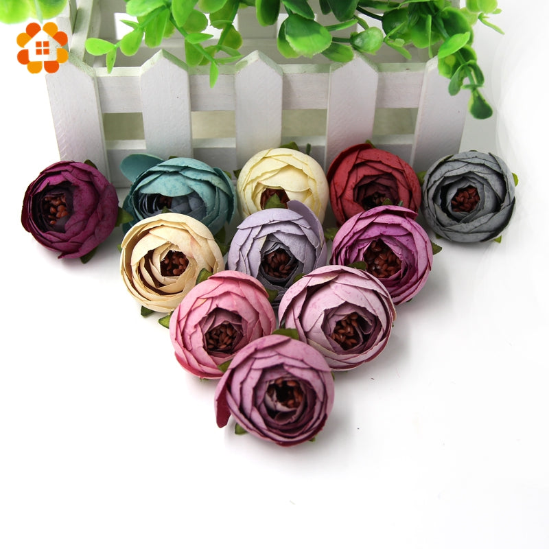 5pcs DIY Artificial Flower Flower Garland Craft Fake Flower Artificial Flower Head Wedding Decoration Wreaths  Multicolor