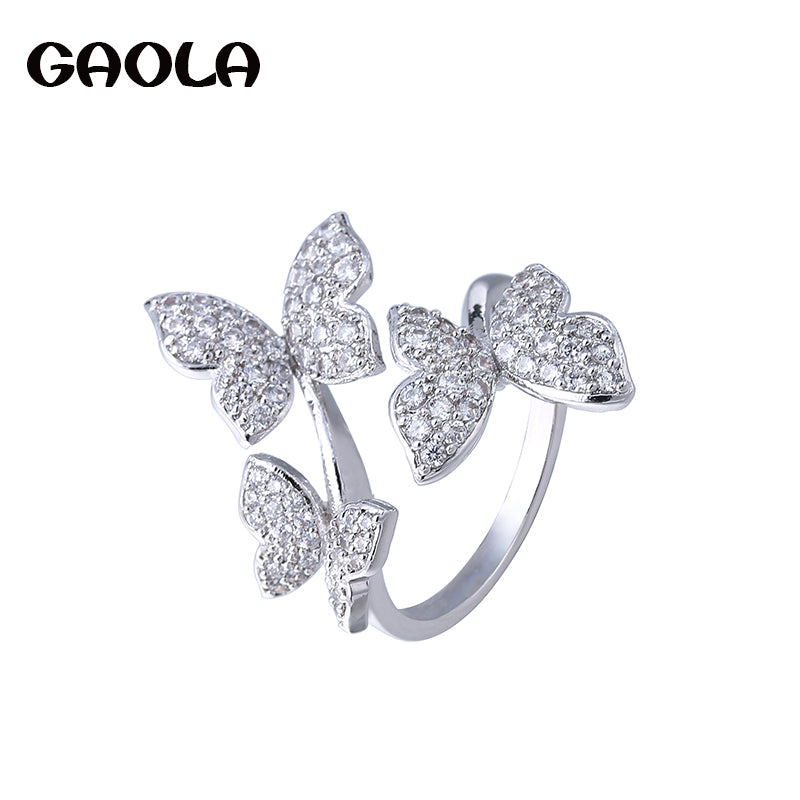 GAOLA Top Quality Cute Butterfly Ring Open Rings For Women Jewelry Gifts J1561
