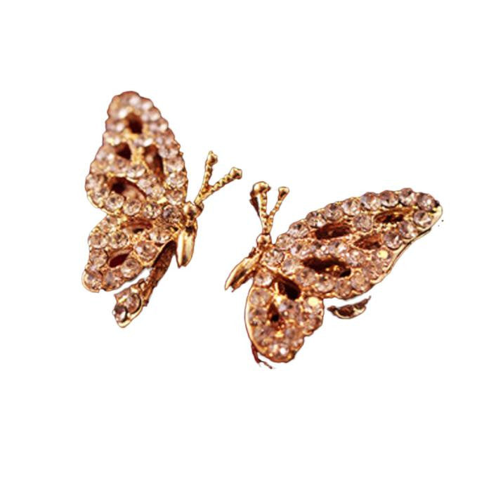 New Fashion Women Lady Elegant Butterfly Rhinestone Earrings