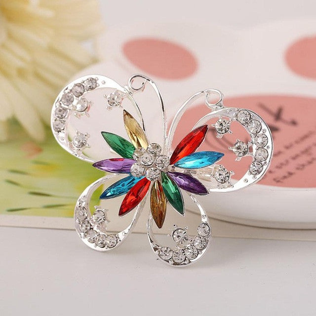 Fashion Personality Exaggerated Women Diamond Butterfly Brooch Jewelry Butterfly Brooch #30