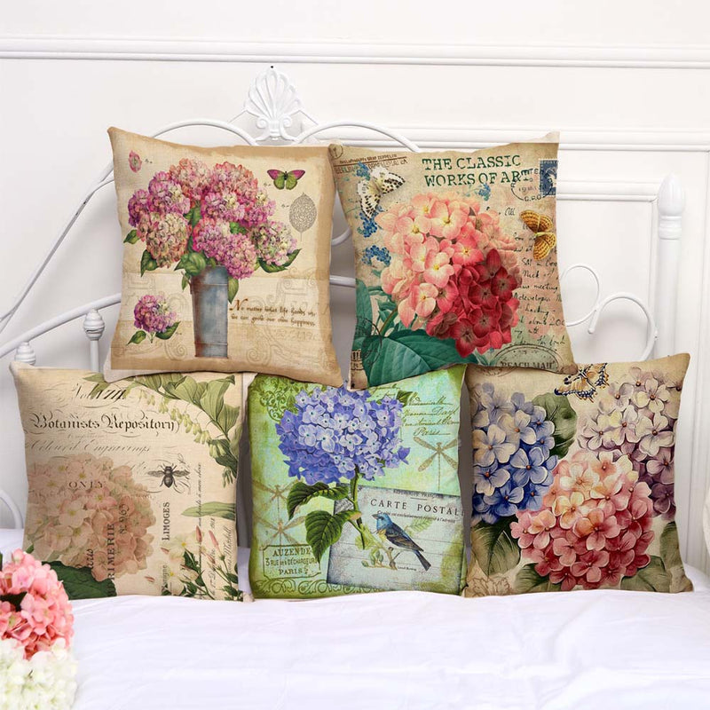 Unique European Style Beautiful Flowers Vintage Butterfly Cushion Cover Decorative Car Home Decor Sofa Throw Pillow Case