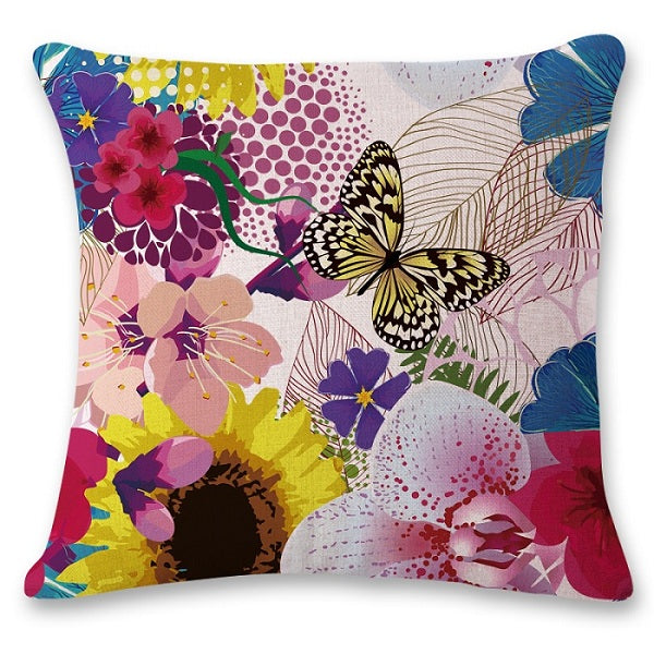 SMAVIA Pretty Butterfly Design Cushion Covers Car/ Chair/ Sofa/ Seat Pillow Covers 45*45 cm Pillowcase Home Decoration 1 piece
