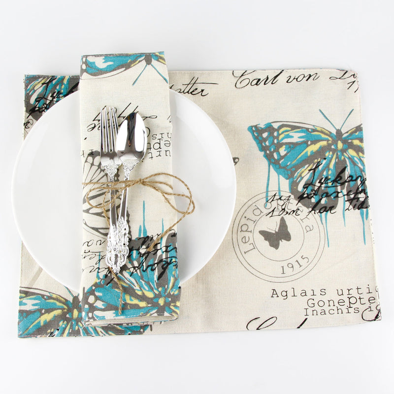 Butterfly Modern Table Place Mat Classic Coasters Kitchen Tableware Mat Dining Table Place Mats Pad Mug Cup Dishes Placemat