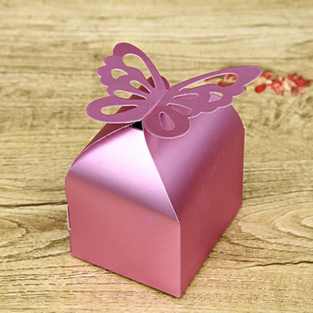 20 pieces Butterfly wedding favors and gifts candy paper Box event & party Supplies wedding decorations chocolate boxes packing