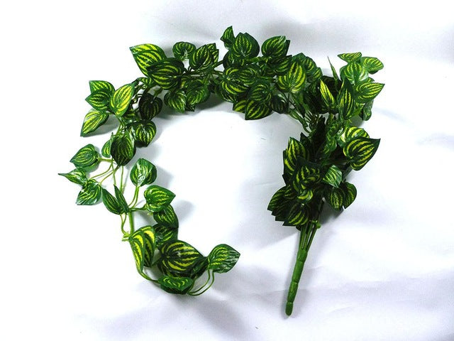 20pc Artificial Watermeloon Leaves Flower Home Decorative Flower Wreaths Display Party Wedding Decor Artificial Plants 87cm