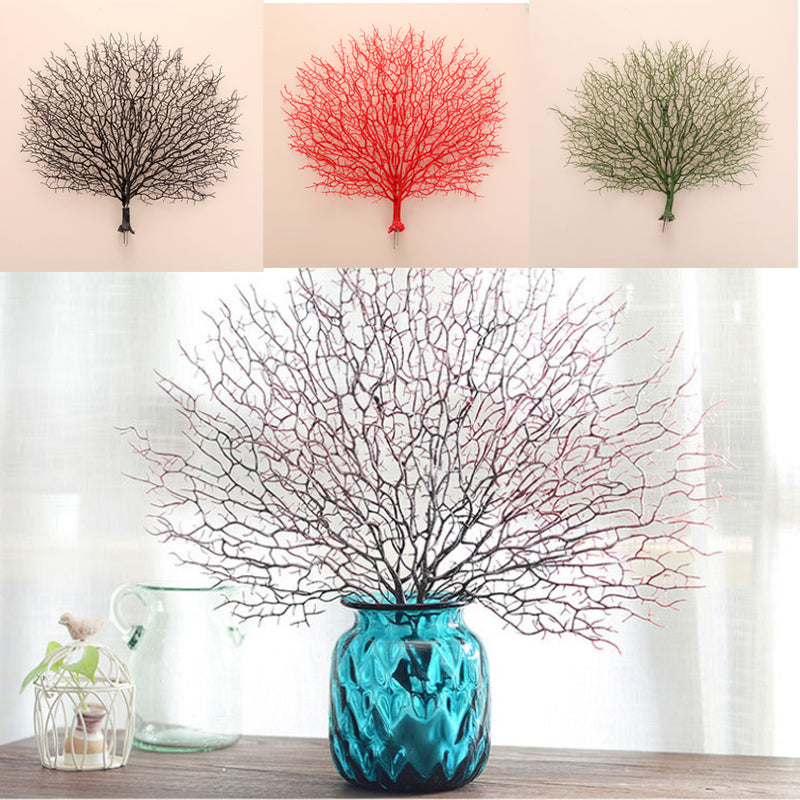 Artificial Flowers Coral Branch Peacock Shape Home Decoration Craft Decor DIY