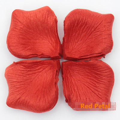 Multi Color 100pcs Silk Rose Flower Petals Wedding Decorative Flowers Petals non-woven simulation rose petals hand False petals