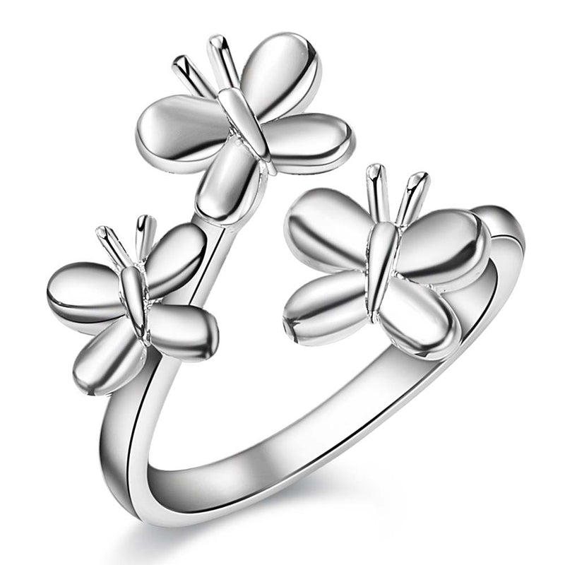 beautiful butterfly shiny  Silver plated ring, silver fashion jewelry ring For Women&Men , /GFLQMLVM IDZZBQTD