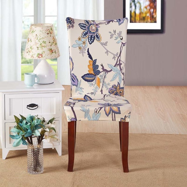 1pcs Flower Butterfly Stretch Home Decor Dining Chair Cover Spandex Decoration covering Office Banquet Hotel chair Covers 43033