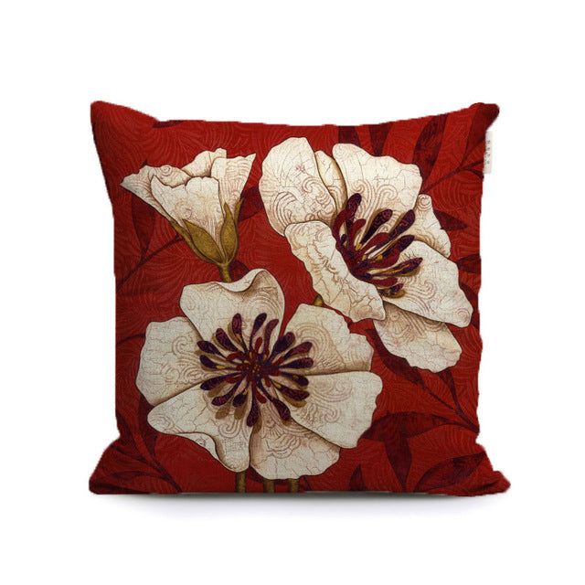 gorgeous lily bloom flowers decorative pillows covers butterfly plants throw cushion cases for sofa home