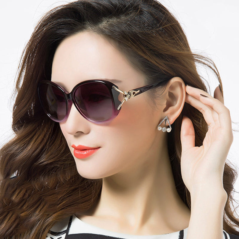 FS YURI YUAN Fashion Retro Sunglasses Women 2017 Polarized Butterfly Sunglasses Fox decoration lunette de soleil femme