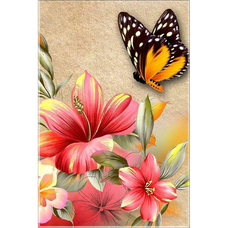 DIY flower diamond Painting butterfly lily Pattern Home Decor Full Square Rhinestone Diamond Embroidery mosaic Kits