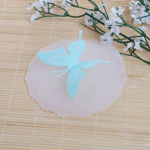 Newest Design Cute Butterfly Silicone Airtight Sealed Cup Cover Lid Cap Coffee Mug Leakproof jun30