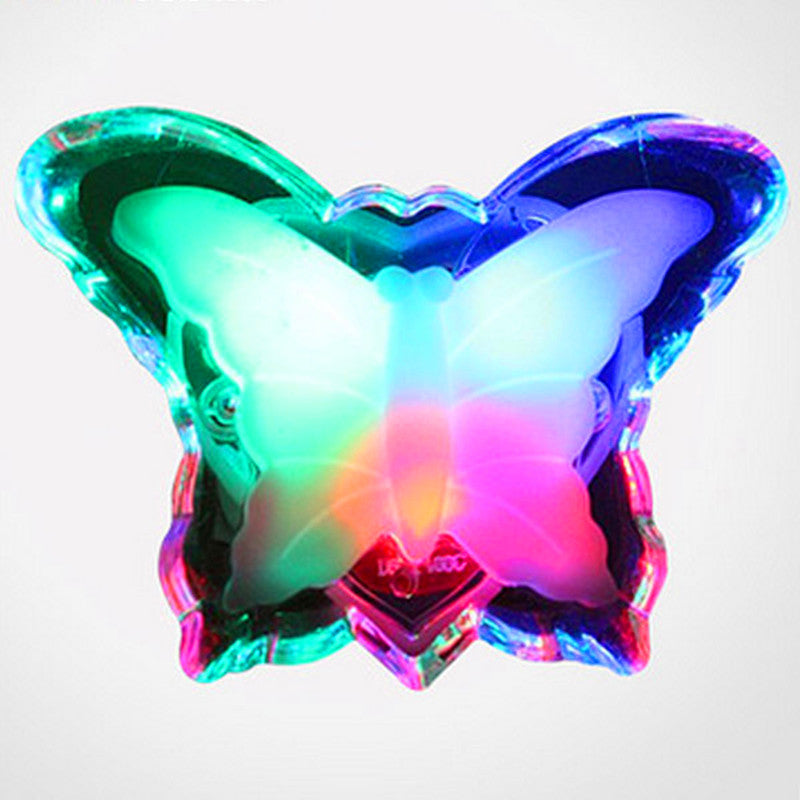 Butterfly LED Night Light Energy Saving Lovely Color RGB Romantic Wall Light Night Lamp Decoration Bulb For Baby Bedroom EU Plug