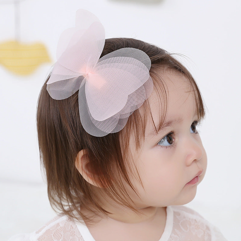 Chiffon yarn butterfly Hairpins Gauze Big Bows side Hair clips barrettes Kids Children hair ornaments hair accessories for Girls