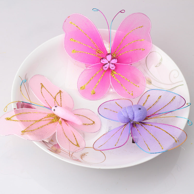 M MISM Flower insect Butterfly Hairgrips Cute Lovely Hairpins Hair Accessories Ornaments Hair Clips for Children Girls Kids