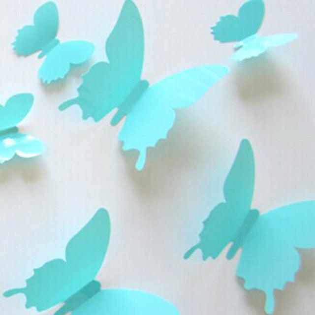 3D Butterflies Wall Stickers Room Home Decors Art / DIY Decorations Paper Wall Decorated