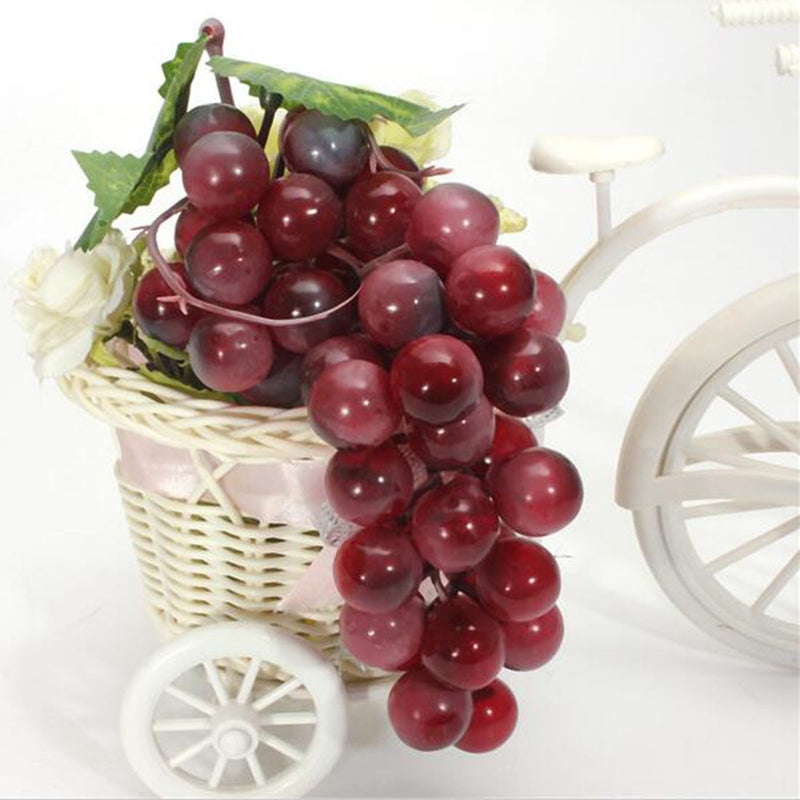 New Lifelike 22-85pcs Grain Artificial Grapes Plastic Fake Fruit Food Wedding/Home/Christmas Decoration Vivid Red Fake Grapes