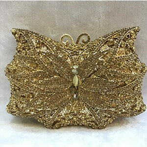 XIYUAN BRAND butterfly Evening Clutch PURSE women full dress crystal day clutchES diamond Wedding Bag Mini Purse handbag totes