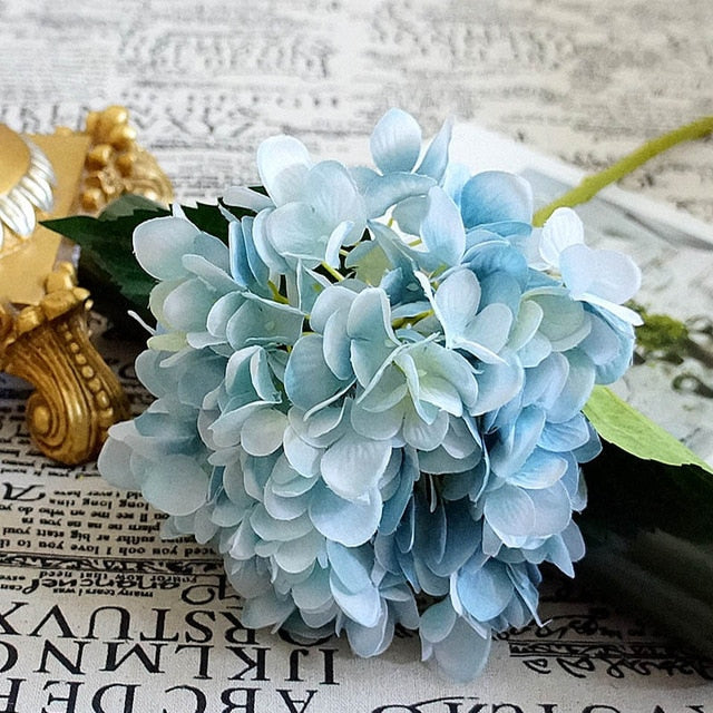 Artificial flowers cheap Silk hydrangea Bride bouquet wedding home new Year decoration accessories for vase flower arrangement