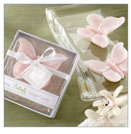 Free shipping10pcs/lot  European creative wedding gift,Pink butterfly smokeless/scented candles,wholesale candle wax