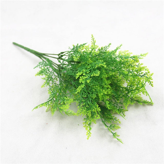 YO CHO Fake Plants Fern Grass Wedding Wall Outdoor Decor Green Leaf Artificial Flowers Plastic Plante for Home Garden Decoration