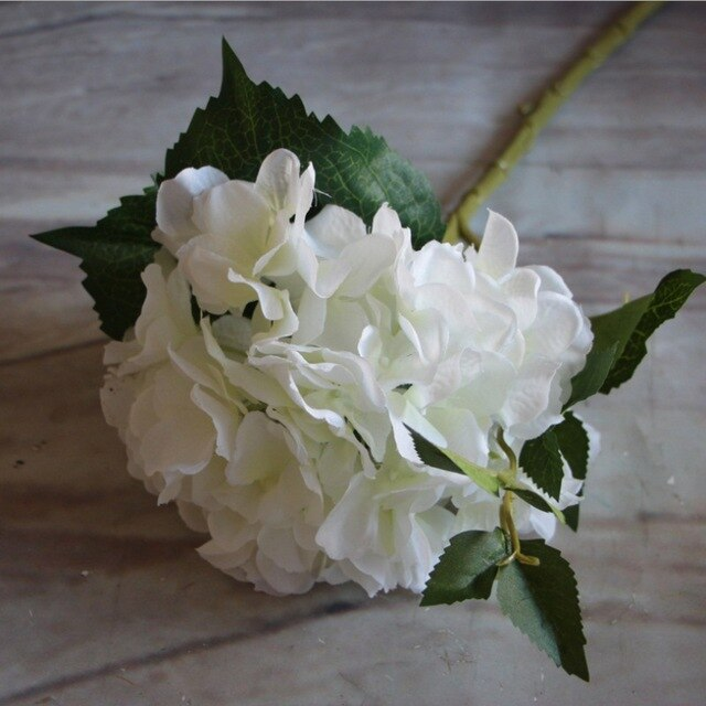 Artificial Silk Hydrangea Flower Bouquet For Home Wedding Party Decoration Fake Cheap Vase Table Arrangement Accessories Flower