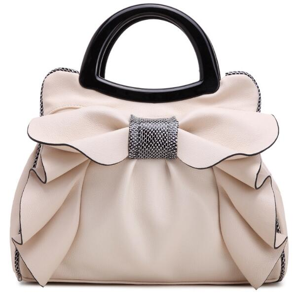 Bags for women 2019 European new fashion white sweet butterfly knot luxury designer pu leather brand lady handbag shoulder bag