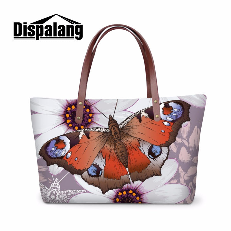 Butterfly Handbags for Women Large Capacity Shoulder Tote bags for Teen Girls Stylish Hand Bags Zippered School Messenger Bags