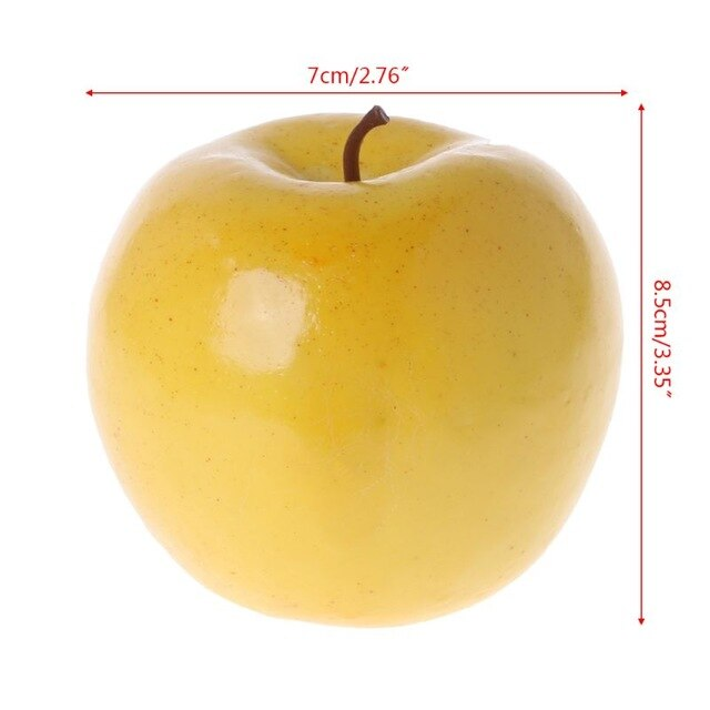Realistic Lifelike Artificial Fruit Pear Peach Apple Kitchen Fake Display Food Home Decoration Supermarket Restaurant Props W229