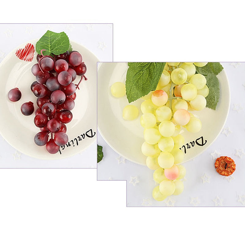 Decorative Lifelike Artificial Grapes Realistic Fake Fruit Pub Party Home Kitchen Cabinet Ornament Hot Sale