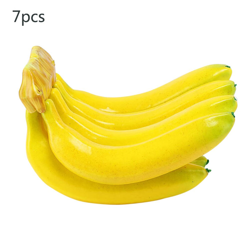 3/7pcs Artificial Fruits Banana Fake Fruits Cognitive Teaching Aids EVA Plastic Fruit For Store Shop Display Decor Wedding Prop
