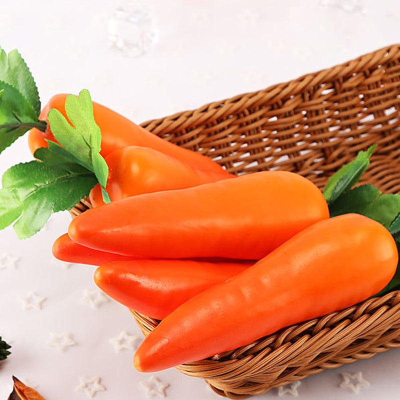 1pcs Carrots Mini Artificial Plastic Foam Carrot Fruit and Vegetable Berry Shop Home Kitchen Decorative Photography Props