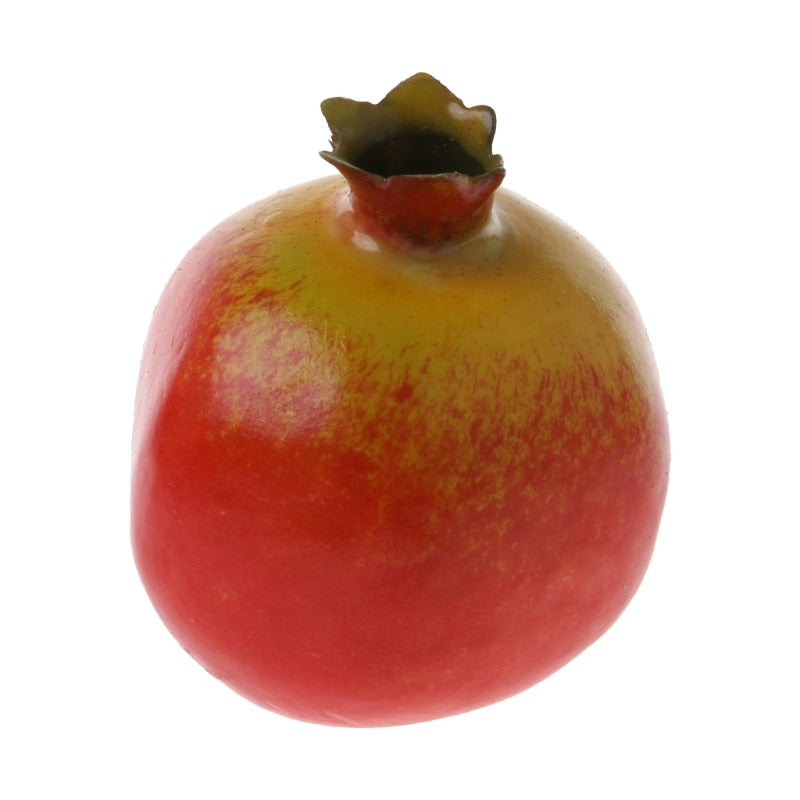 Hot Sell Lifelike Simulation Artificial Pomegranate Fake Fruit Disply Home Party Decor