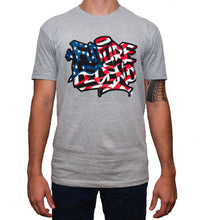 Graffiti American Flag Tee