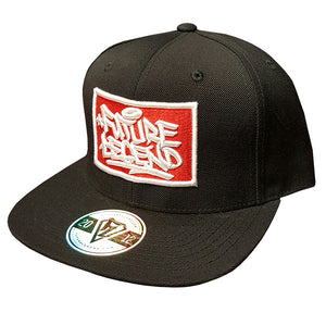 Embroidered Patch Cap Black