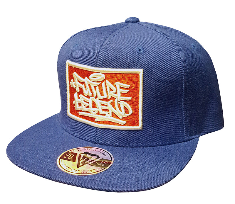 Embroidered Patch Cap Blue