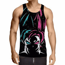 DB Super - Blue and Red Goku Duality Tank Top