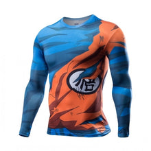 Dragon Ball Z Super Saiyan compression t shirt tees Vegeta Goku anime Long Sleeve T-shirt tops