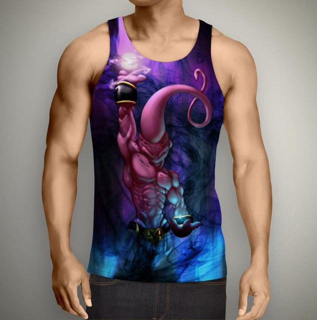 Super Buu Form Power Attack Tank Top - Capsule Corp Clothing