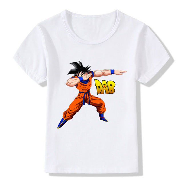 2018 Children Dabbing Dragon Ball Z Goku T-shirt Kids Summer Tops Boys/Girls Clothes Anime Baby T shirt,HKP2184