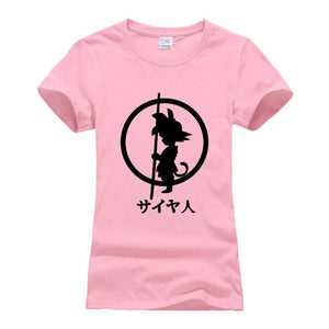 Japanese anime streetwear t shirts women Dragon Ball Z t shirt short sleeve Super Saiyan clothing 2018 hipster casual tops femme