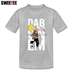 Dragon Ball Z Super Saiyan Vegeta Son Goku Dab T-shirt Girl Short Sleeve 4T-8T 100% Cotton Children's Designer Tee Top Clothing