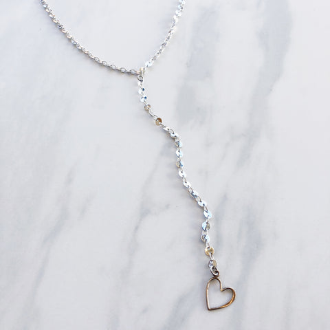 Heart On A String Lariat Necklace