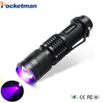High Quality CREE LED UV Flashlight SK68 - Purple Violet UV torch - 395nm Lamp
