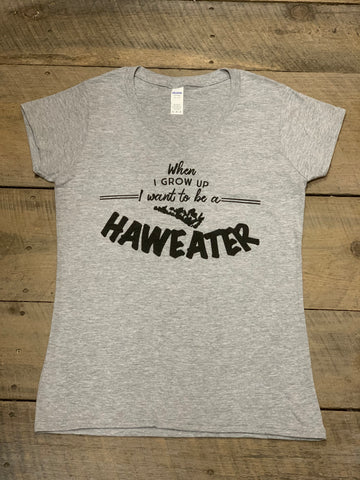 Women's V-neck Grey Haweater Tshirt
