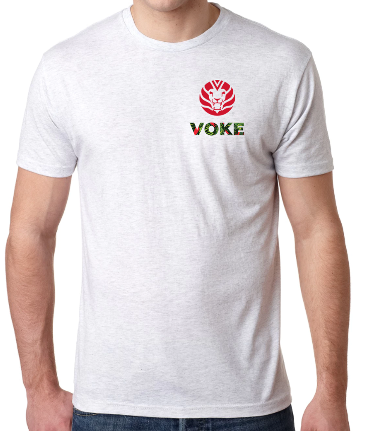 Voke Tri-Blend Unisex T-Shirt White Heath